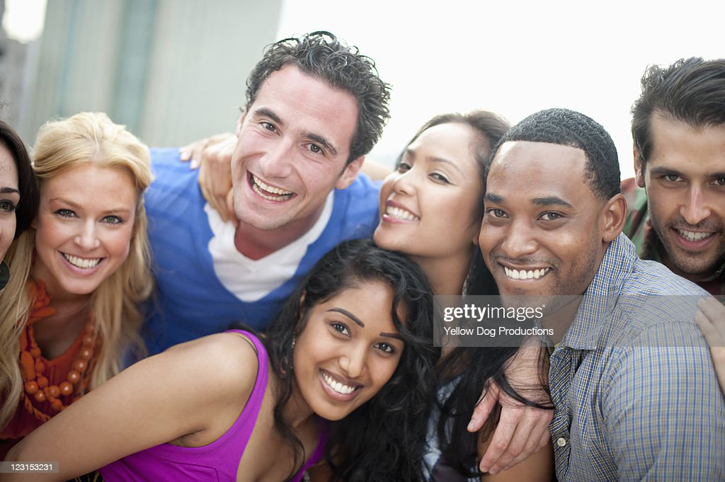 Group of Smiling Young Adult Friends : Stock Photo