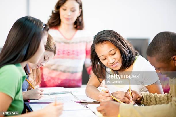 Grupo de alunos e professores