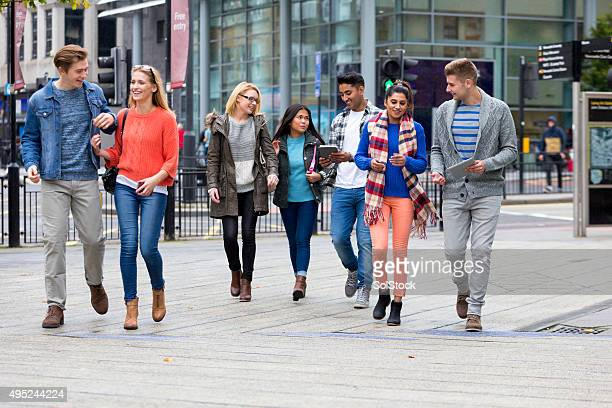 Group of Students Enjoying University Life