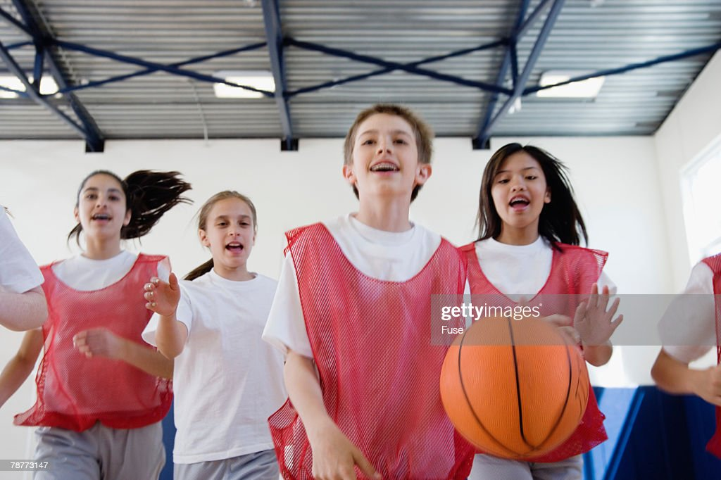 Group of Students Playing Basketball