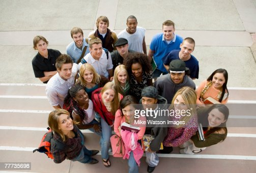 Group of Students Standing Together : Foto de stock