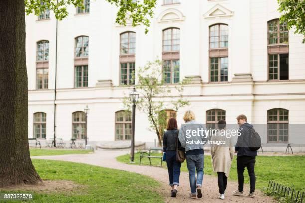 Group of students (16-17) walking towards school