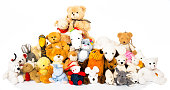 Group of non branded stuffed animals