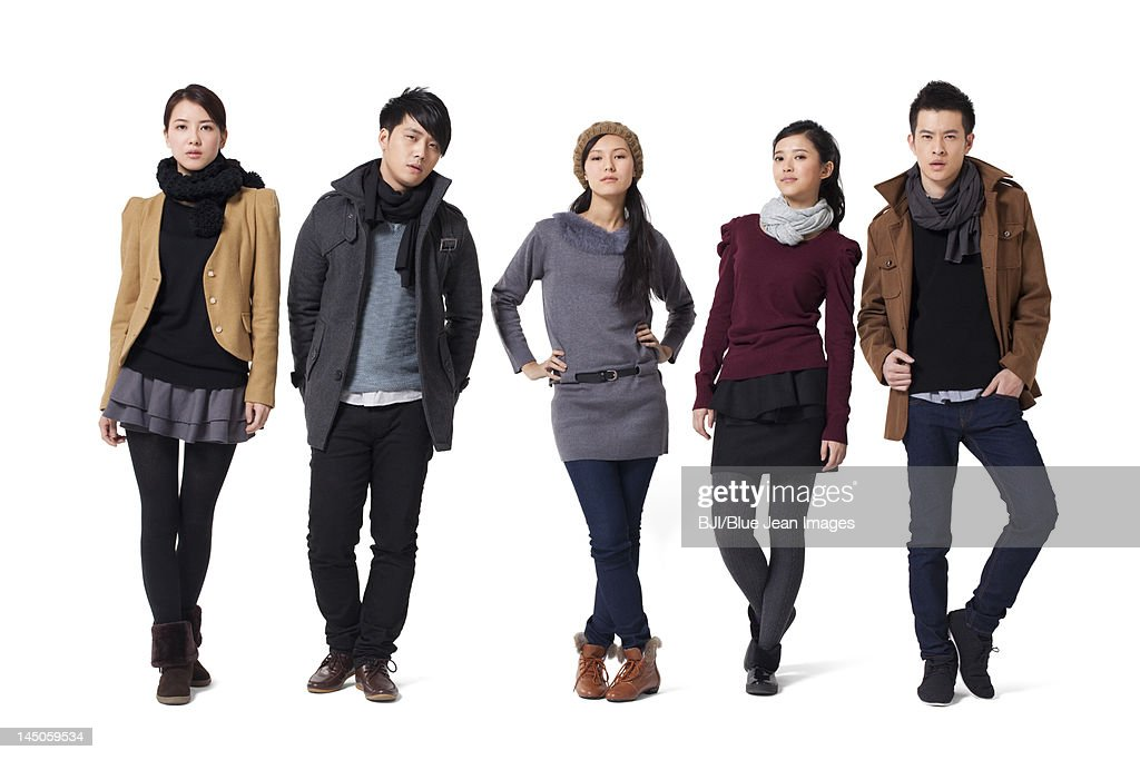 Group of stylish young people : Stock Photo