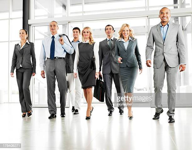 Group of successful businesspeople