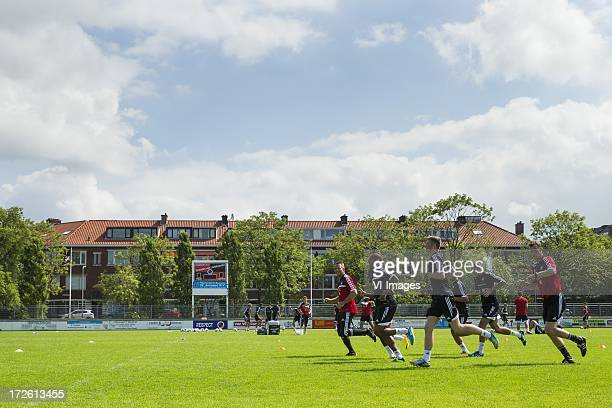 Group of Swansea City players during the training in holland during a training session of Swansea City on July 4 2013 at Sportcomplex Jan van...