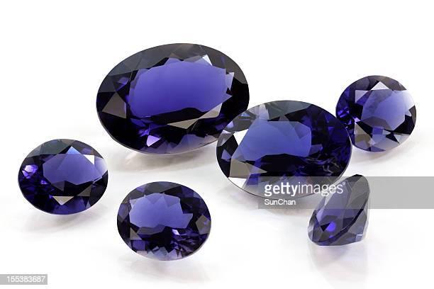 Group of タンザナイトまたはサファイア、菫青石