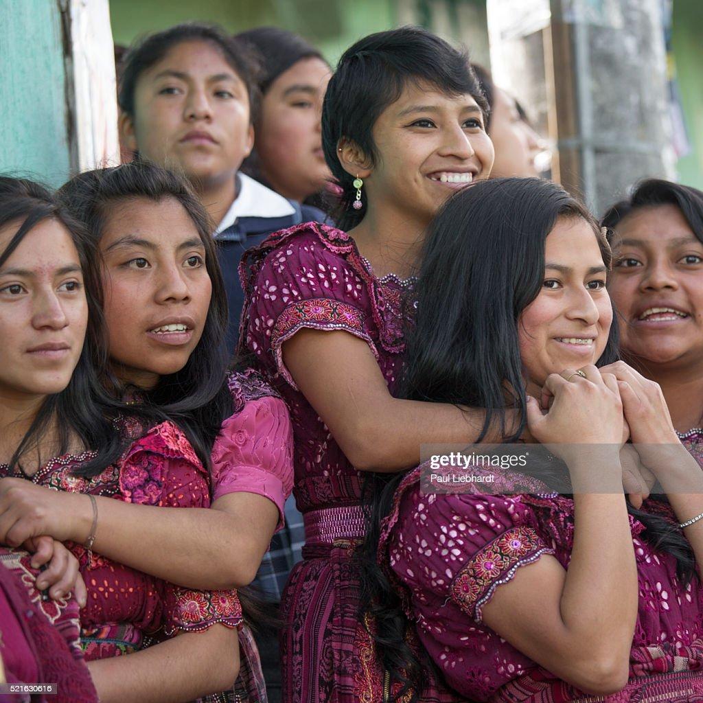 Group of Teenage Guatemalan Girls