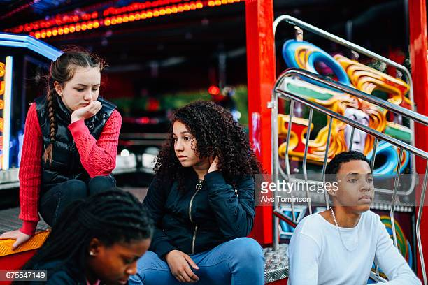 Group of teenagers at fairground