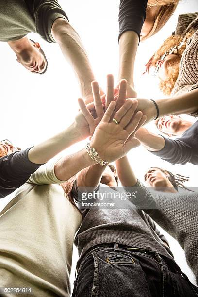 Grupo de Adolescentes voluntário Felicidade