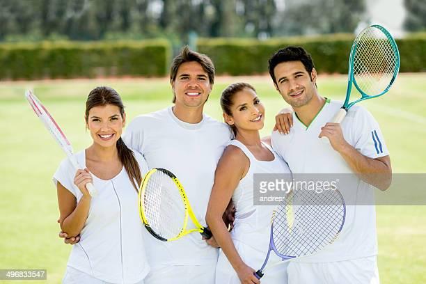 Gruppe von tennis player
