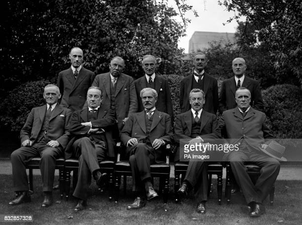A group of the new cabinet photographed in the garden of No10 Downing Street The group includes Mr R MacDonald Mr S Baldwin Mr P Snowden Mr H Samuel...