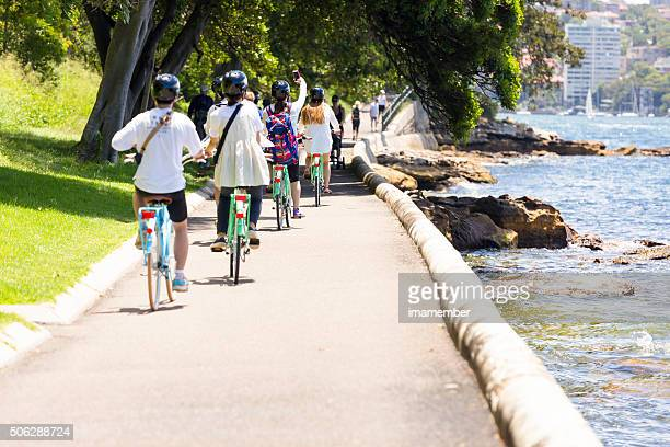 Group of tourist riding in the park in Sydney Australia