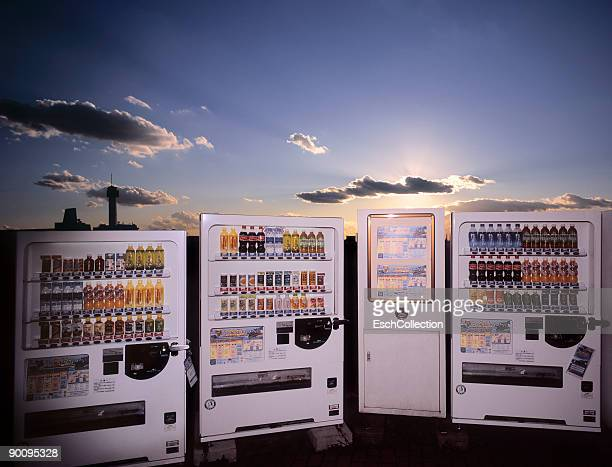 Group of typical Japanese vending machines, Tokyo