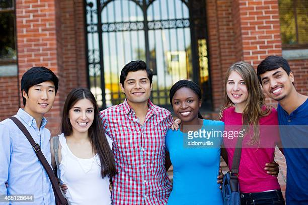 Group of university students