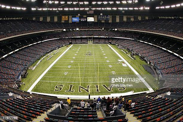 A group of ushers take a tour to learn the changes in the Louisiana Superdome as it prepares to reopen on September 23 2006 in New Orleans Louisiana...