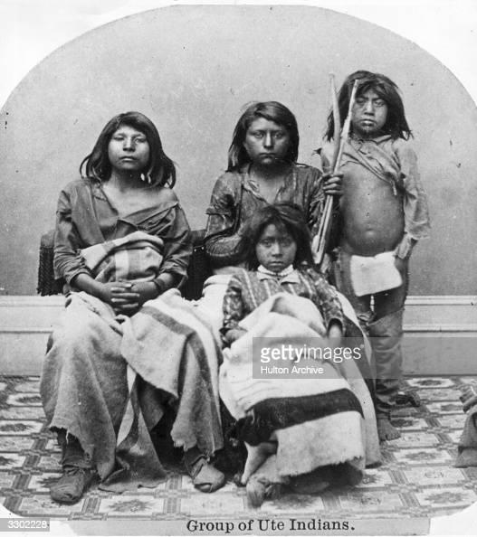 Group of Ute Indians in Salt Lake City Utah