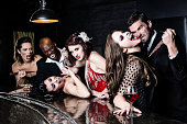 Group of Vampires Attacked in Bar