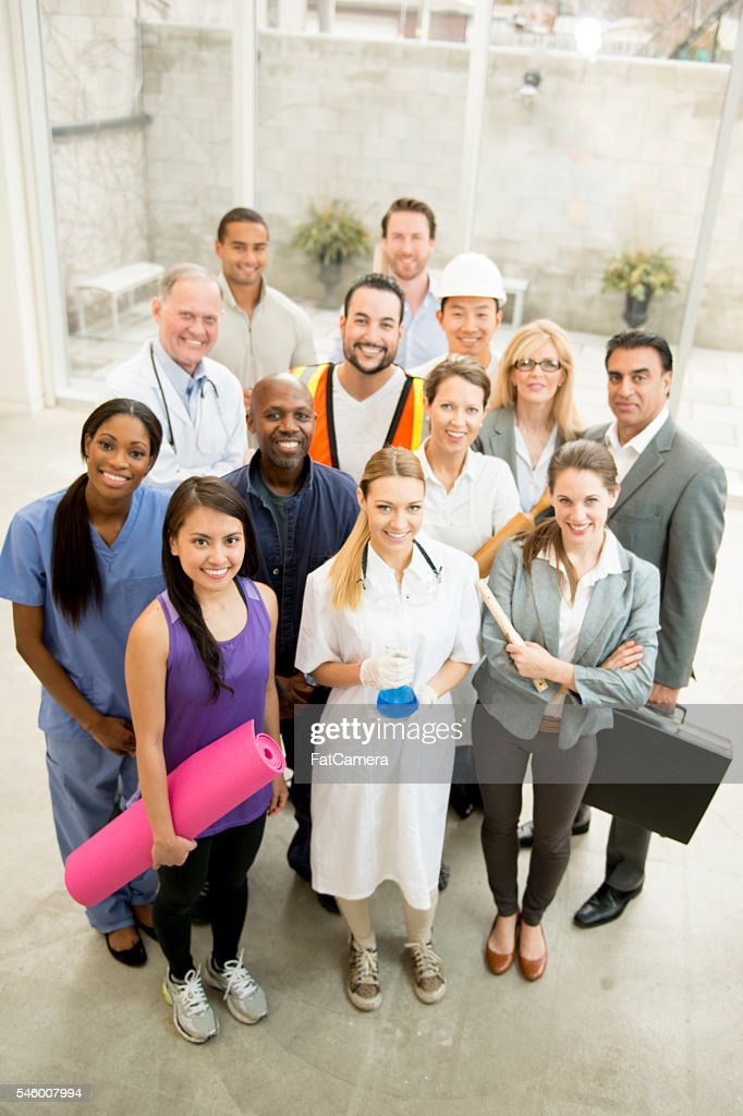 Group of Varied Professionals : Stock Photo
