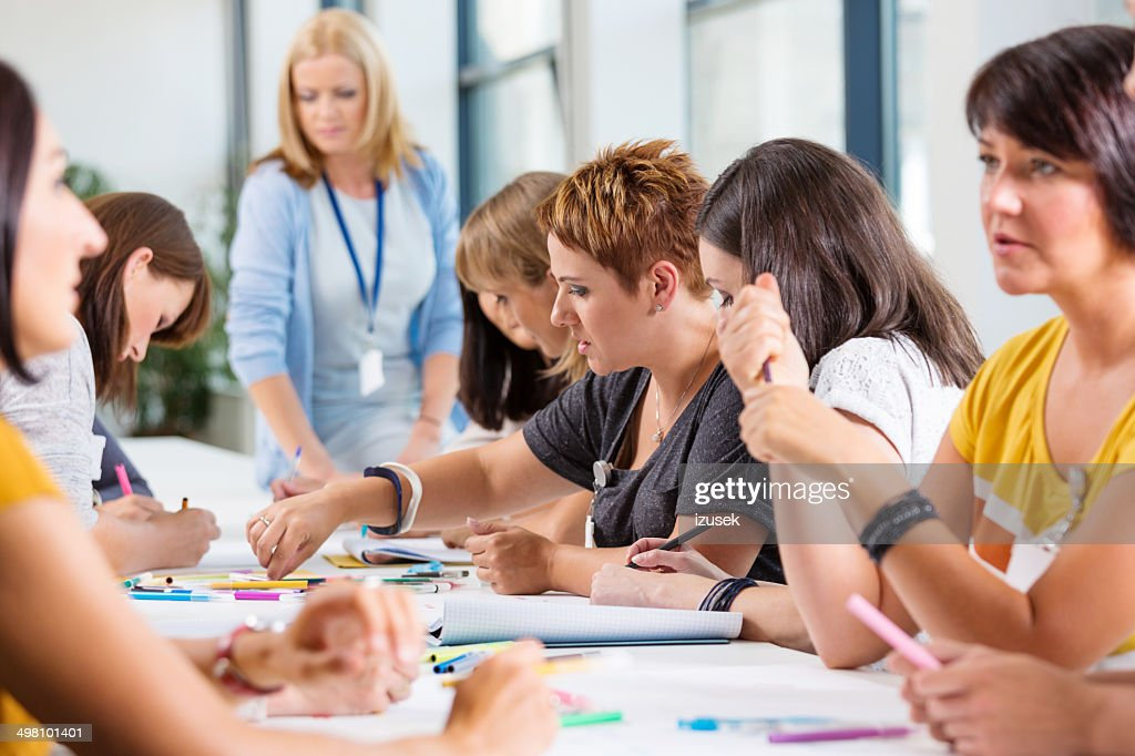 Group of women at the training : Stock Photo