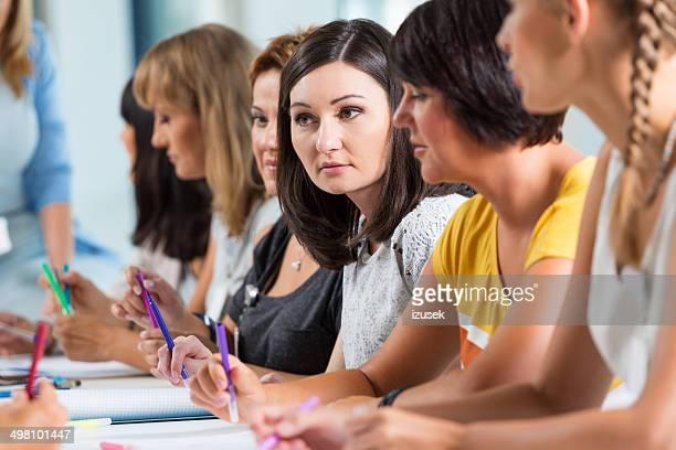 Group of women at the training