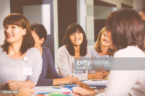 Group of women during seminar : Stock Photo