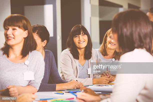 Group of women during seminar