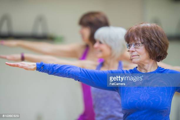 Group of Women Exercising Together