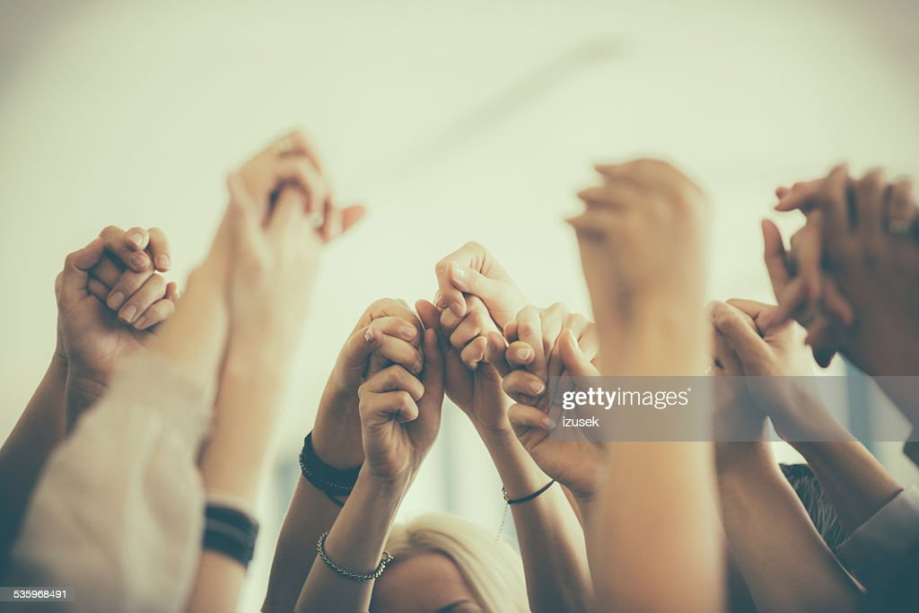 Group of women holding hands. Unity concept : Stock Photo