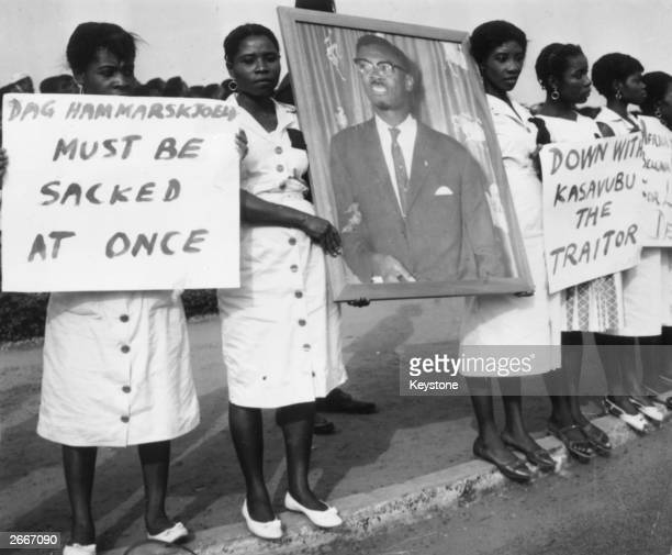 A group of women in Accra Ghana during a mourning parade for Patrice Lumumba the murdered former Premier of the Congo
