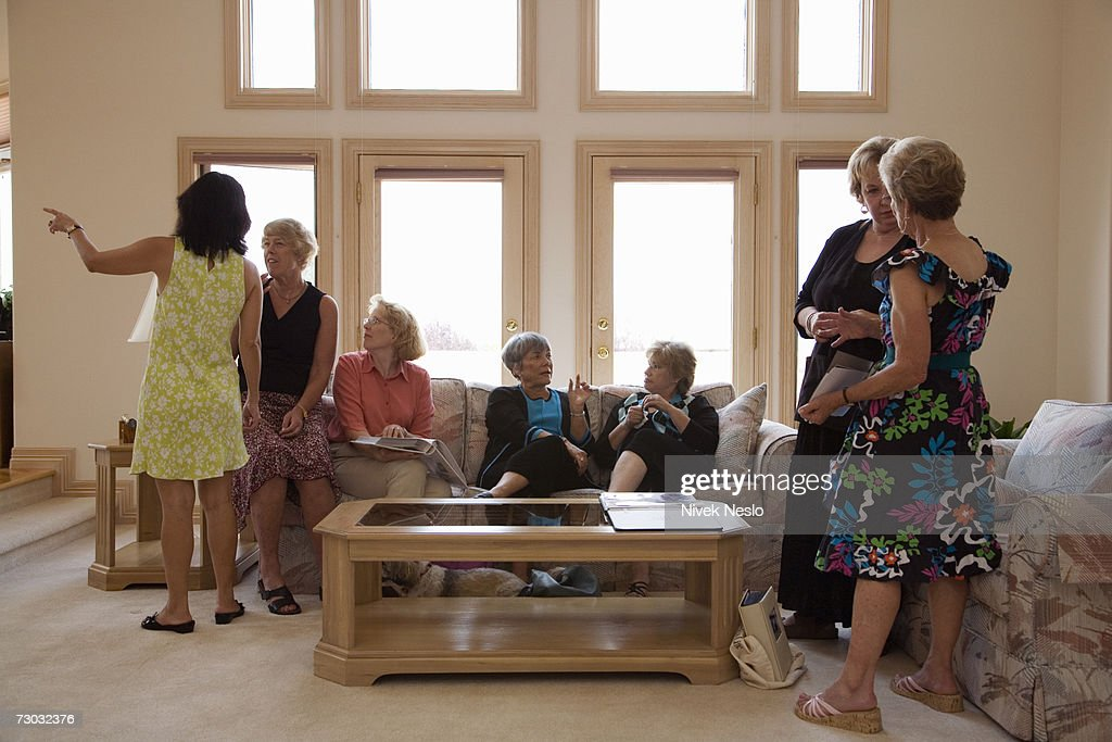 Group of women in living room : Stock Photo