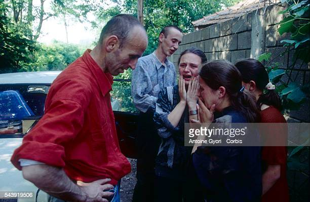A group of women in Rogova Kosovo weep over the death of a Kosovo Liberation Army soldier who was killed during the Yugoslavian Civil War In the late...