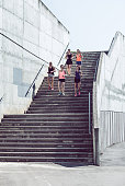 Group of Women Jogging  Outdoors