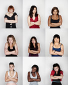 Group of women looking disappointed