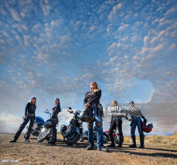 Group of Women Motorcyclists