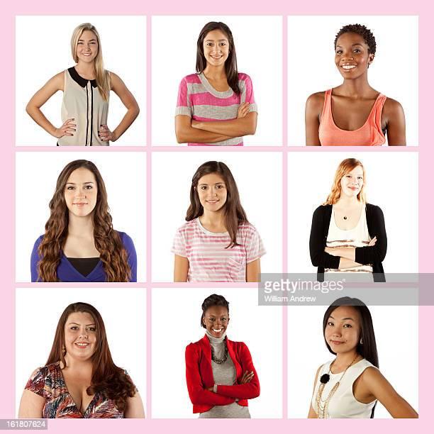 Group of women, portraits