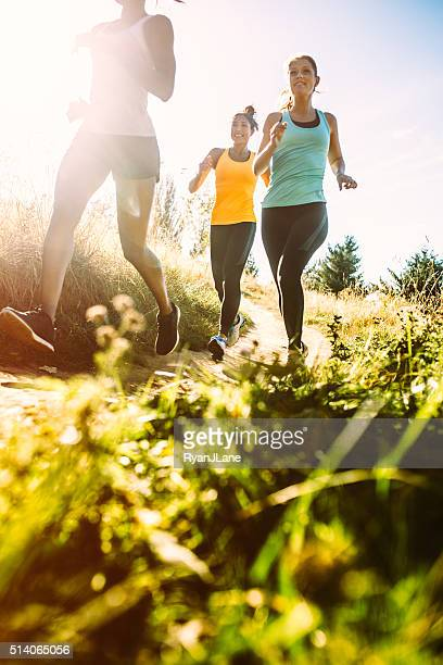 Group of Women Running Outdoors