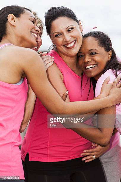 Group of women wearing pink