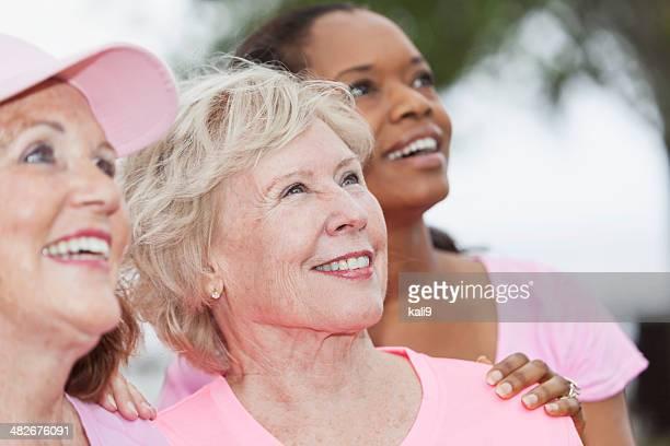Group of women wearing pink