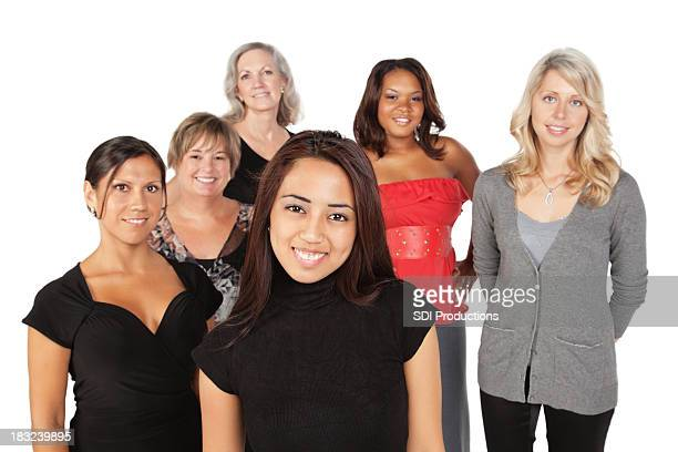 Group of Women With Young Asian Girl in Front