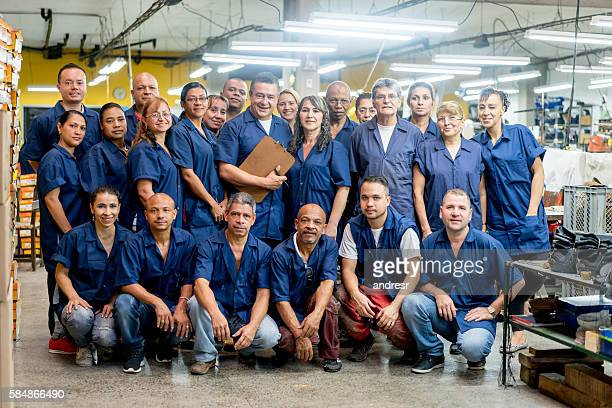 Group of workers at a factory