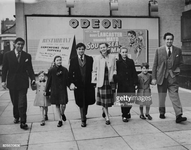 A group of young actors attend a Children's Film Foundation premiere at the Odeon Kensington London 12th December 1953 From left to right actor...