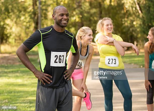 Gruppe der jungen Erwachsenen marathon-Läufer