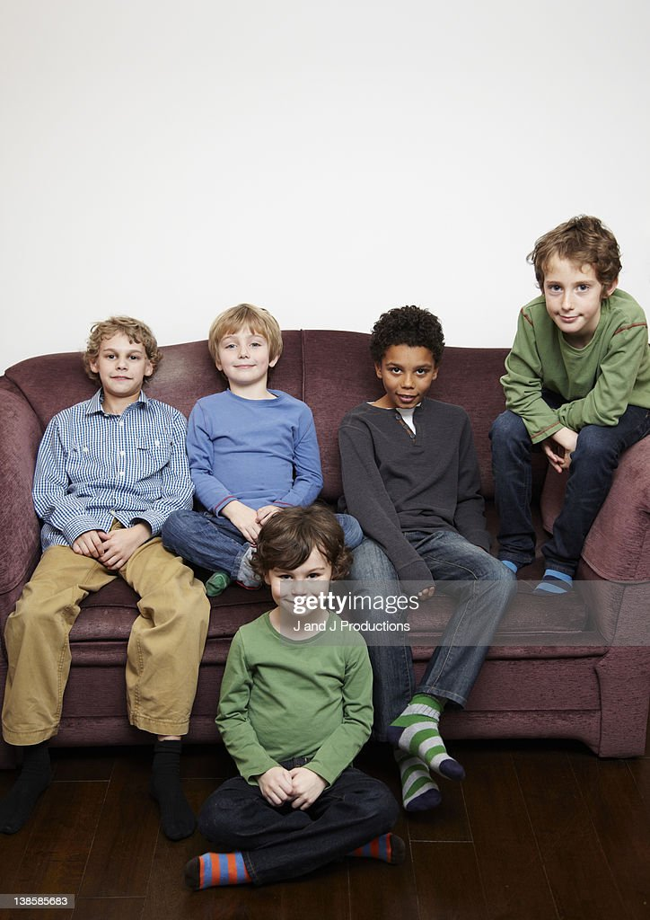 Group of young boys : Stock Photo