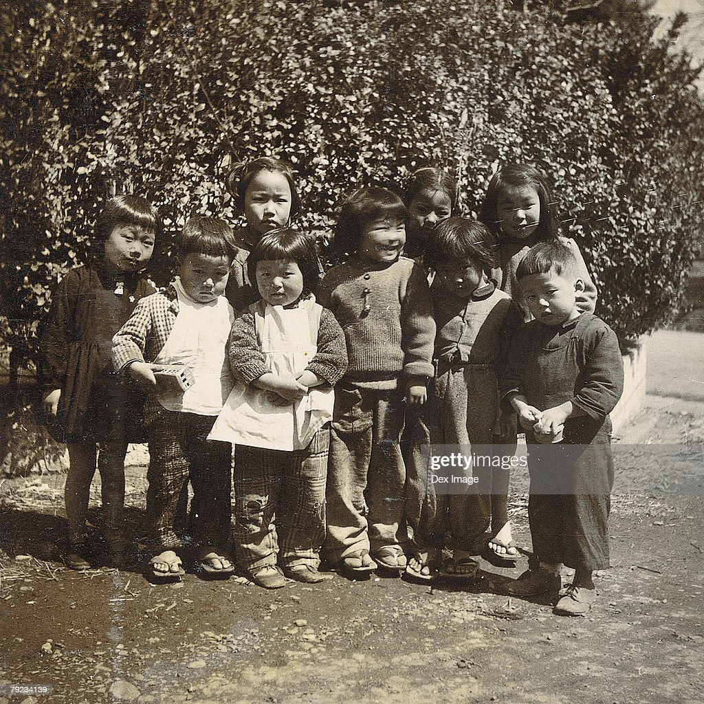 A group of young children : Stock Photo