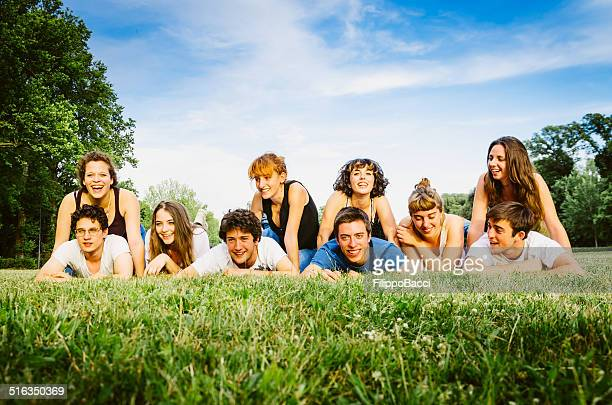 Group Of Young Friends At The Park