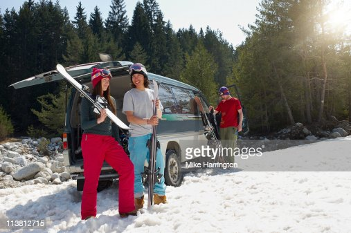 Group Of Young Friends On Bansko Mountains