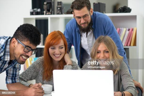 Group of young people at the office