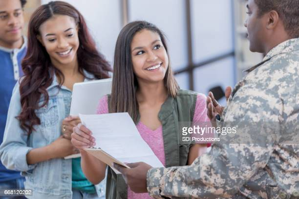 army recruiting stock photos and pictures getty images. Black Bedroom Furniture Sets. Home Design Ideas