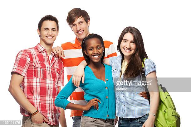 Grupo de los jóvenes estudiantes